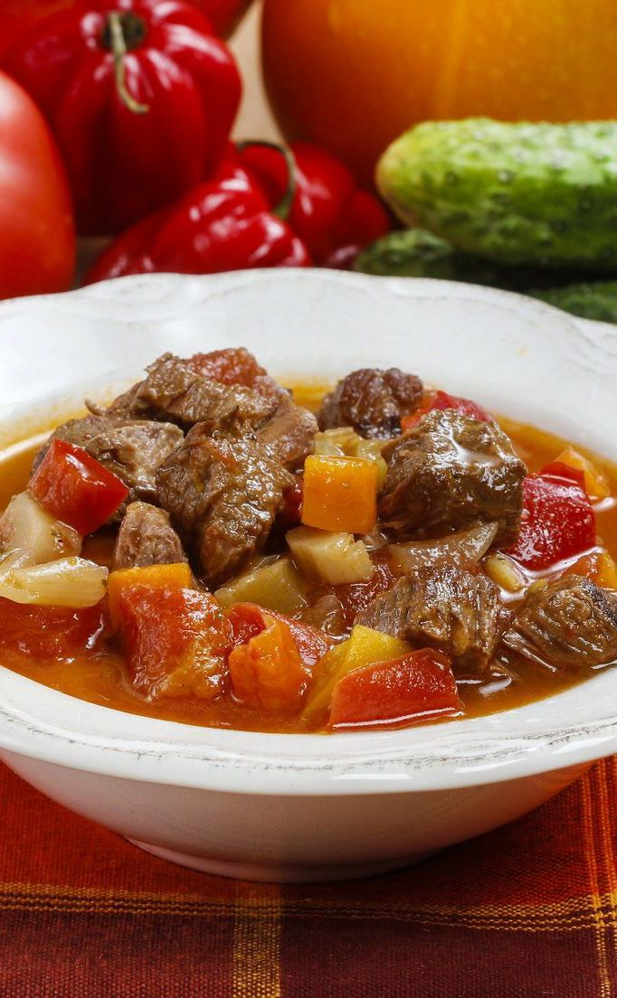 Slow Cooker Beef Vegetable Soup Recipe | Soup's on | Pinterest