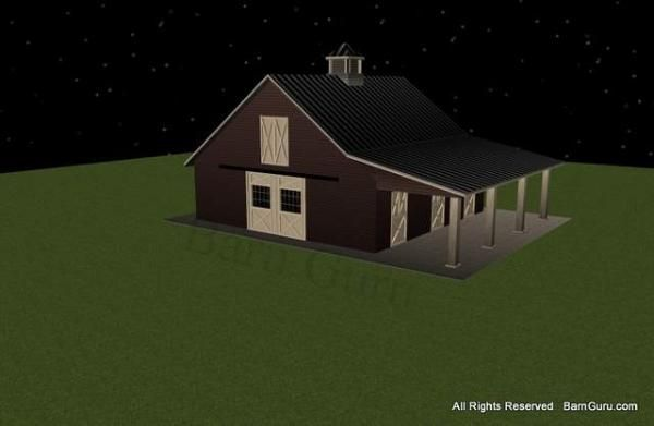 3 Stall Horse Barn Plans Hoof Beats And Whinnies Pinterest