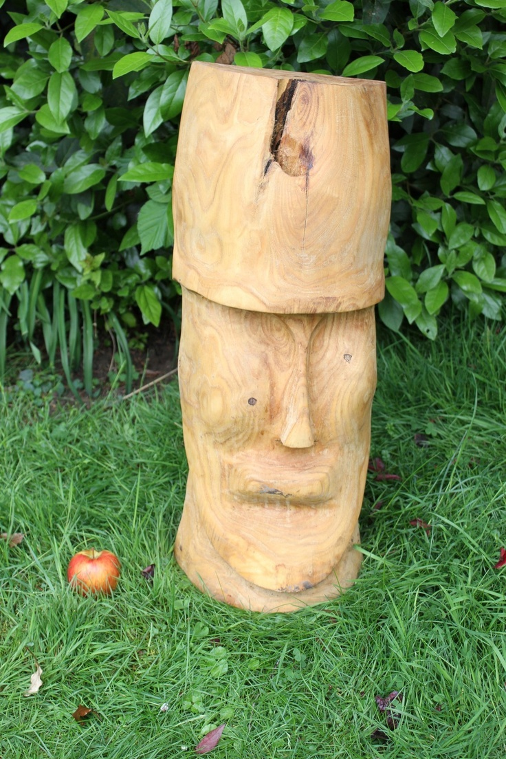 Chainsaw carving easter island head wood pinterest