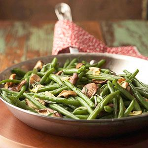 Green Beans with Sage and Shiitake Mushrooms | Recipe
