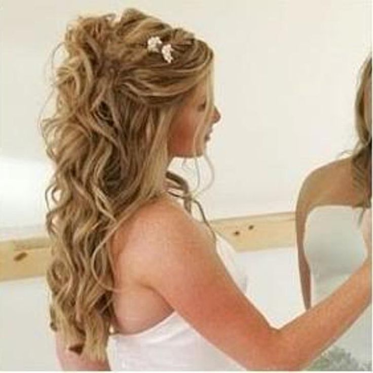 wedding hairstyles for long hair down | pretty hair styles | Pinterest