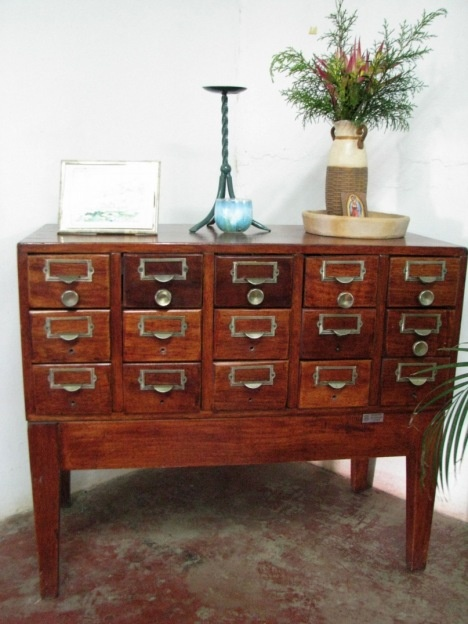 library card catalog as furniture home stuff
