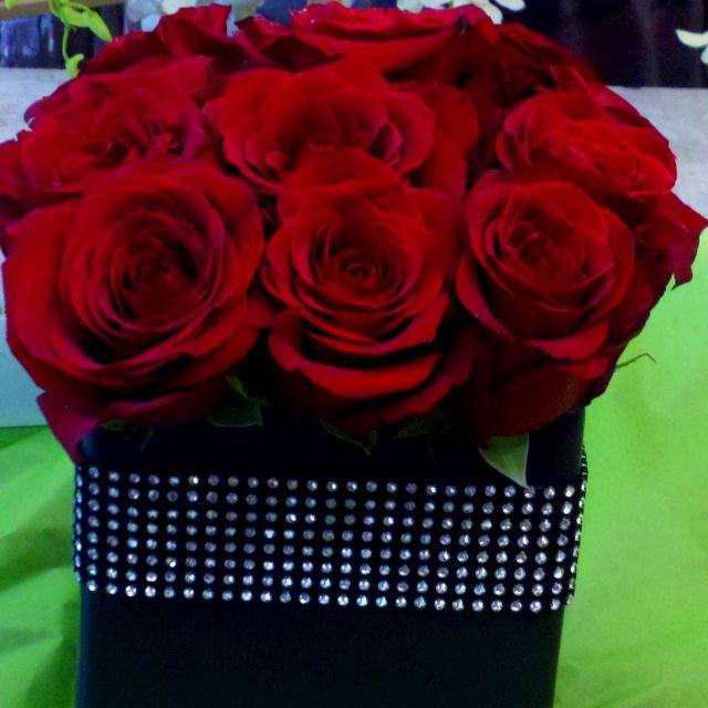 Casino themed flowers