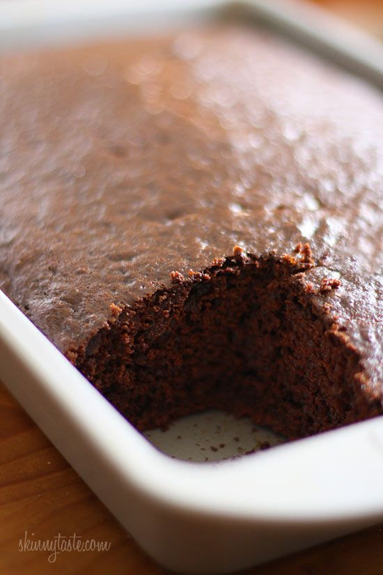 Homemade Skinny Chocolate Cake | Recipe