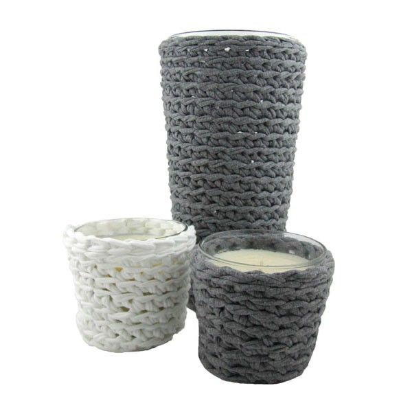 Candle Decor Hoooked Zpagetti Crochet Kit - Camel Knit Stitch