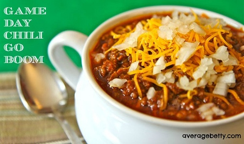 Game Day Chili Go Boom! | Dinner.Before, Breakfast Appetizers Snacks ...