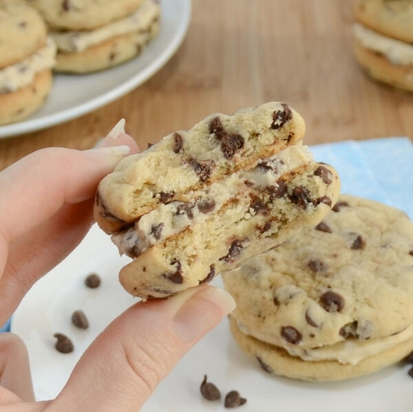 Chocolate Chip Cookie Dough Sandwich | candyland | Pinterest