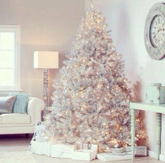 Arbol de navidad blanco navidad thanksgiving pinterest - Arboles de navidad blancos ...