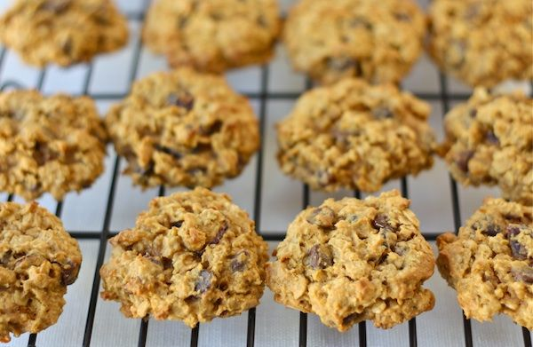 Pumpkin Oatmeal Cookies with Dried Cranberries & Chocolate Chips! Made ...