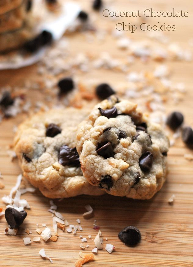 Coconut Chocolate Chip Cookies - A Cookie Named Desire