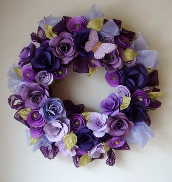 Pretty paper flower wreath!