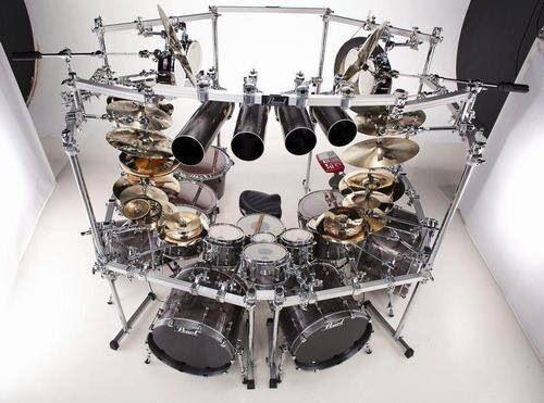 Big kit | cool drum kits | Pinterest