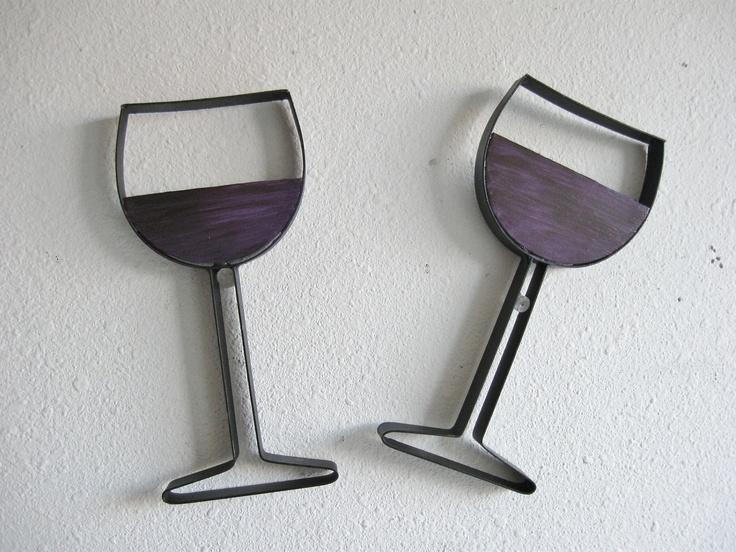 Wall Decor Wine Glasses : Wine glass metal wall decor craft ideas