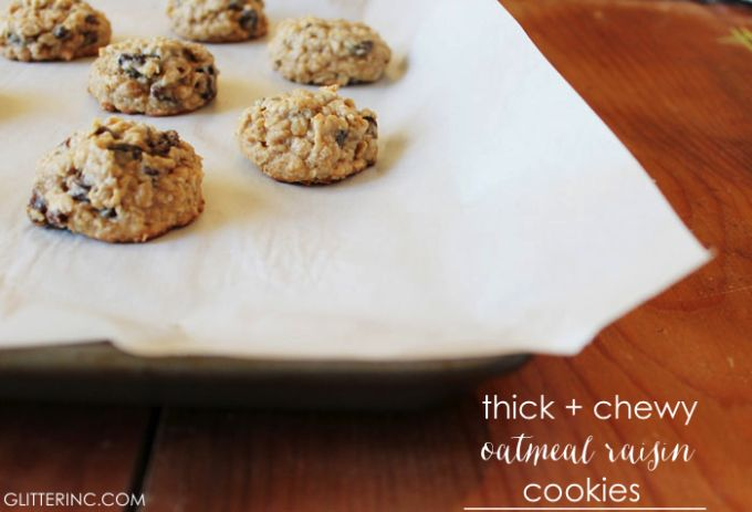 Thick + Chewy {Lower Sugar} Oatmeal Raisin Cookies {Recipe ...