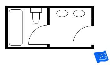 10ft X 6ft Master Bathroom Floor Plan With Bath And Toilet In Separate
