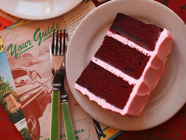 Red Velvet Layer Cake-The Brown Betty Cookbook by Linda Hinton Brown