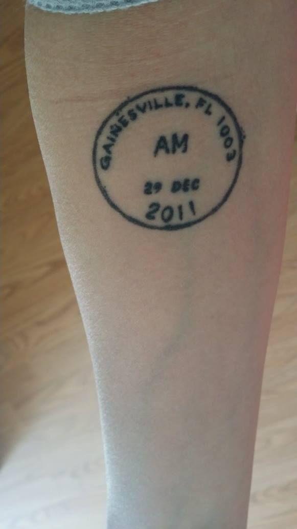 birthdate postal meter stamp tattoo inked pinterest. Black Bedroom Furniture Sets. Home Design Ideas