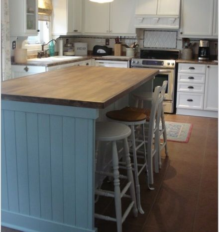 Paneling Island Makeover I 39 M Thinking White For My Kitchen Pin