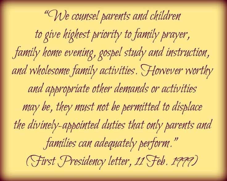 First Presidency Letter Feb