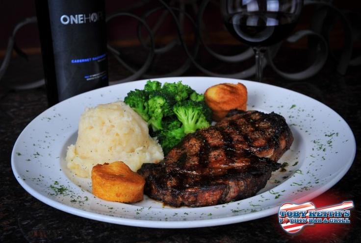 Delmonico Steak @Tobey Shepherd Keith's Bar & Grill. Looking forward ...