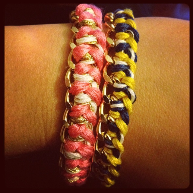 My attempt at the famous Pinterest #chain #bracelet! Easy & Cute