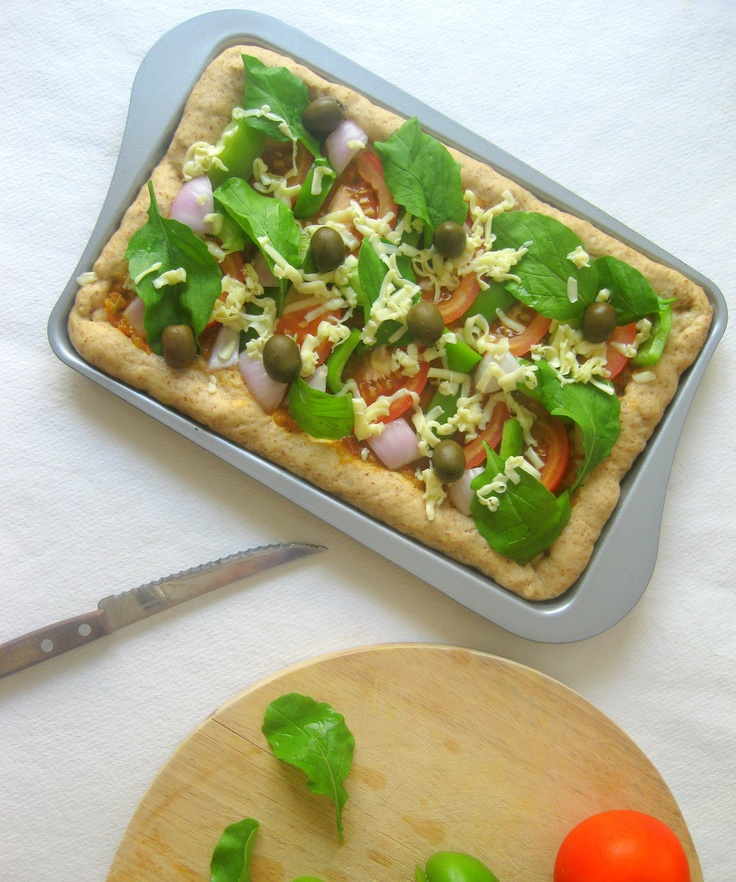 WHOLE WHEAT VEGETABLE PIZZA | kurryleaves