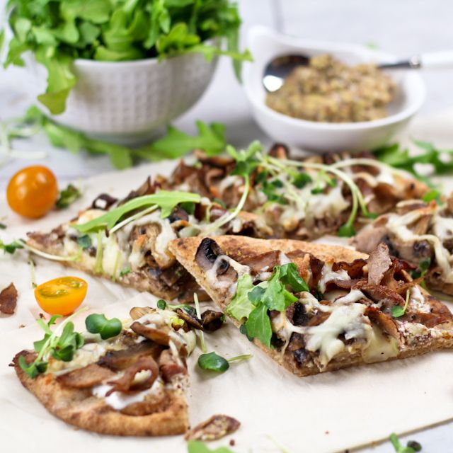 "Quick and Easy ""Philly"" Cheese Steak Pizza 