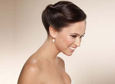 Hairstyle wedding hairstyle bun Formal event hairstyle
