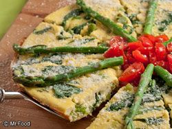 Asparagus Frittata #Breakfast #Recipe