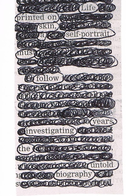 newspaper blackout poems