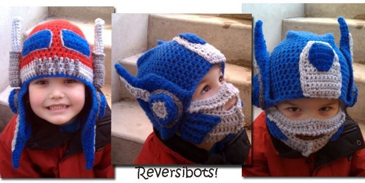 Crochet Pattern For Optimus Prime Hat : Holy cuteness, and Elgen would love it! Crochet and ...