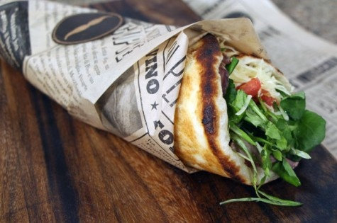 Roasted beef on grilled pizza wrap | Cityline