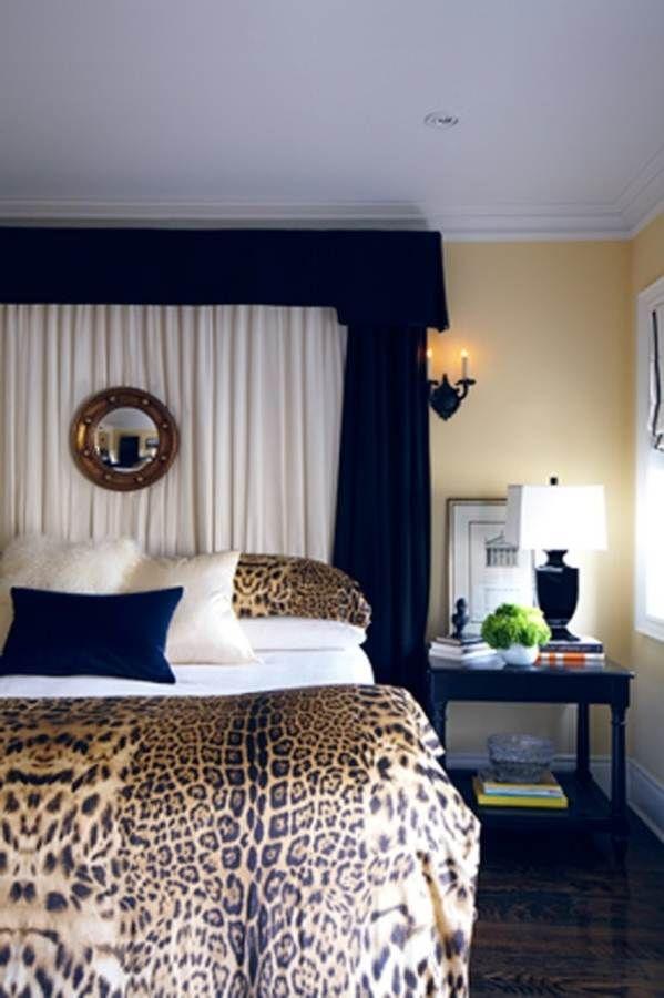 Cheetah animal print bedroom ideas