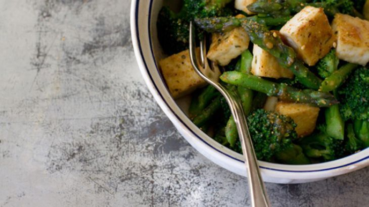ginger tofu and wakame miso soup udon with tofu and stir fried ...