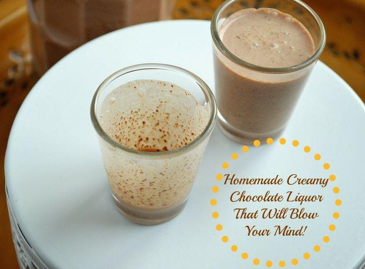 Creamy Homemade Chocolate Liquor via @Colleen Kennedy / Souffle Bombay