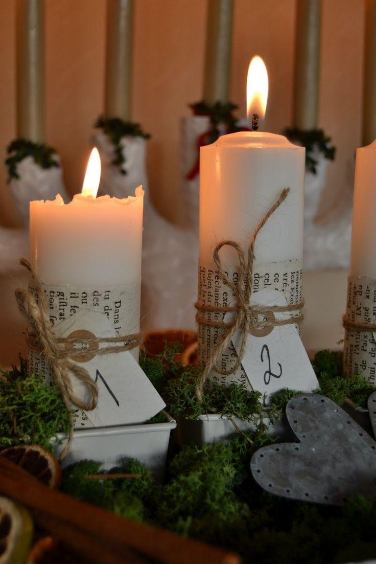 Manualidades navide as velas de adviento decoraciones for Decoracion navidena