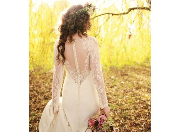 Vestido novia hipster con transparencias