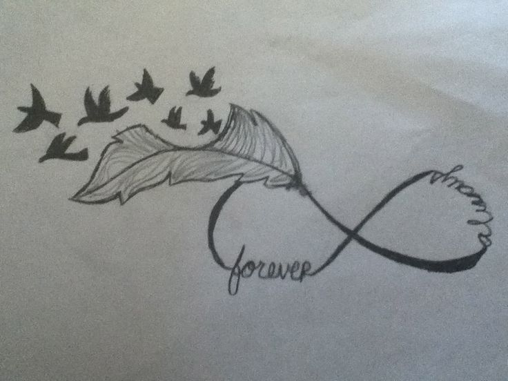 This one KIM  I love bird  feather  amp  infinity tattoos so I created my    Forever And Always Infinity Tattoos