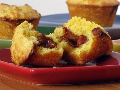 Barbecue-Stuffed Corn Muffins | Labor Day | Pinterest