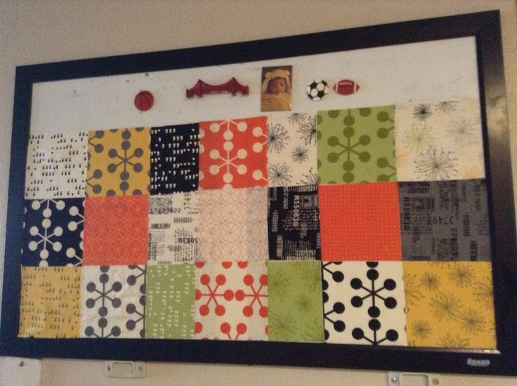 Wall mounted and unframed for home or bulletin board for for Bulletin board ideas for kitchen