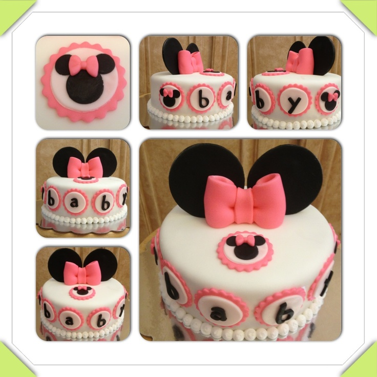 minnie mouse baby shower cake baby shower themes pinterest