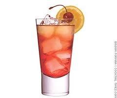 madras cocktail:  vodka,orange juice,cranberry juice, orange slices