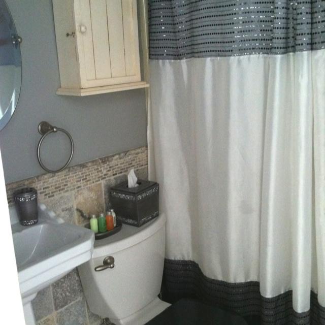 Sparkly beachy bathroom decor lake house pinterest - Lake house bathroom ideas ...
