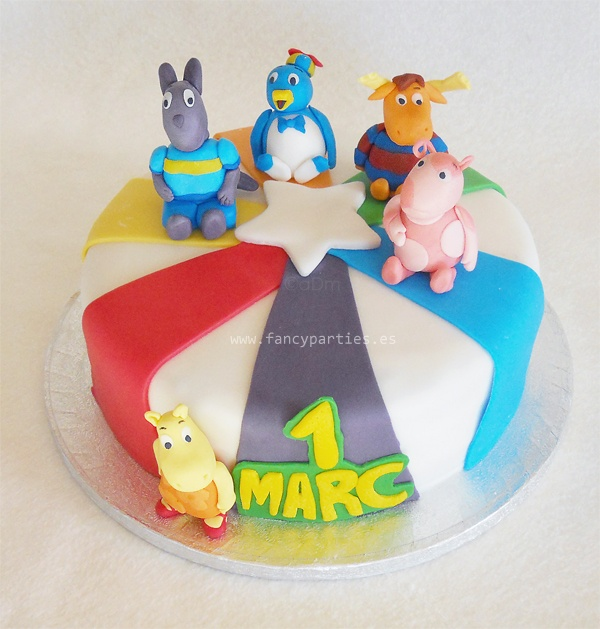 Backyardigans Cake by www.fancyparties.es #backyardigans