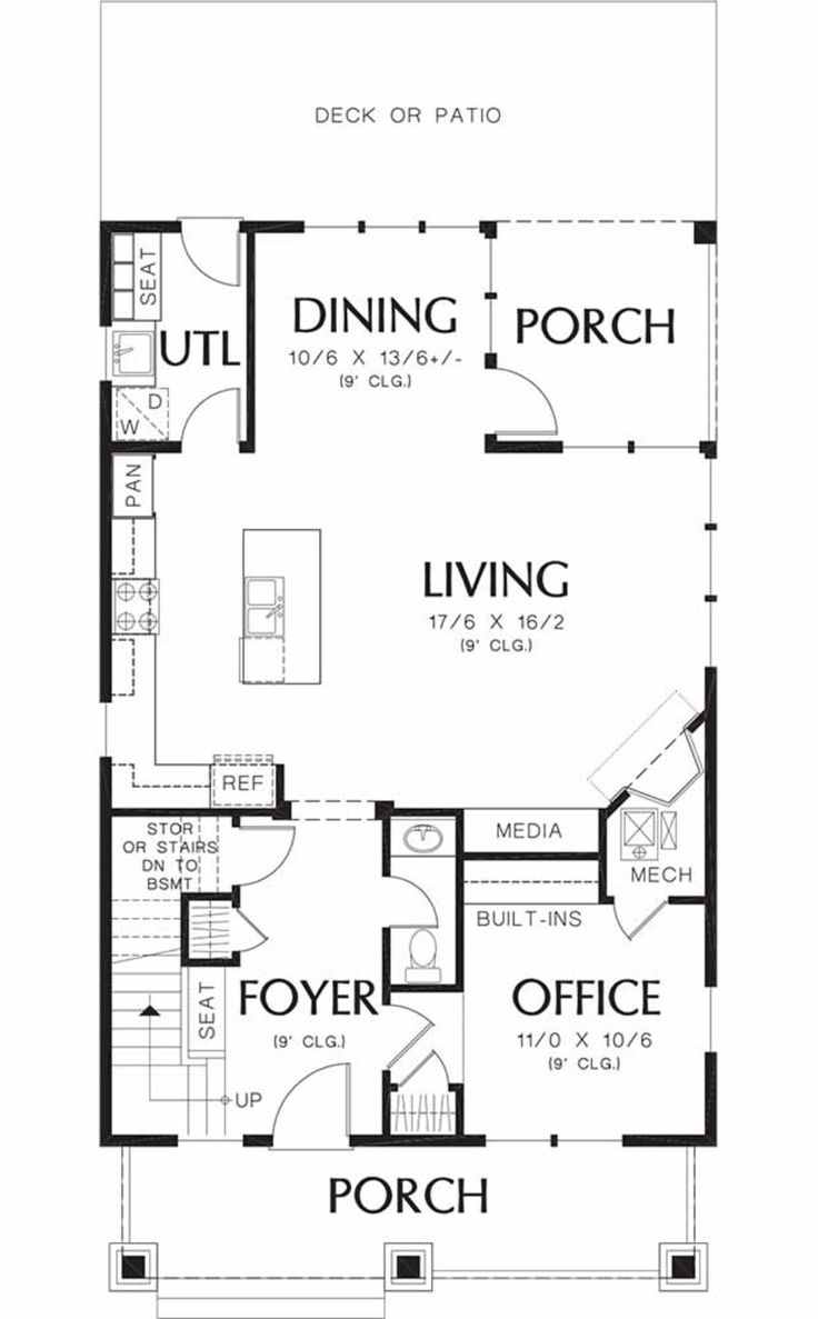 Bungalow craftsman main floor plan plan for 1925 bungalow floor plan