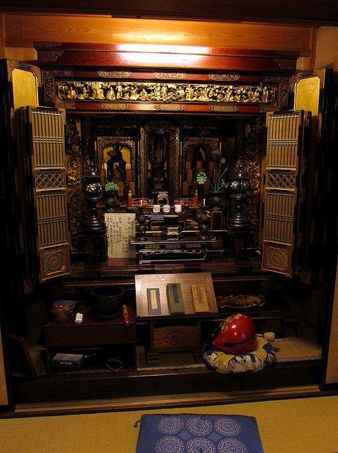 Butsudan Buddhist Altar Traditional Japan Pinterest