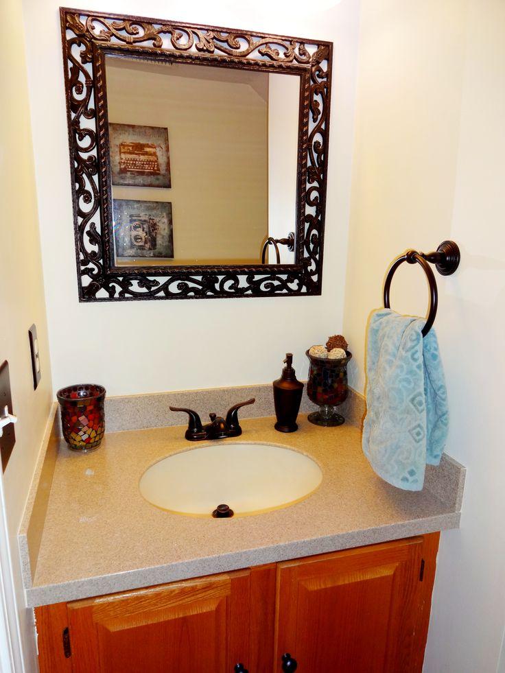 Small half bathroom decor cute mirror deco for lety 39 s for Half bath decor
