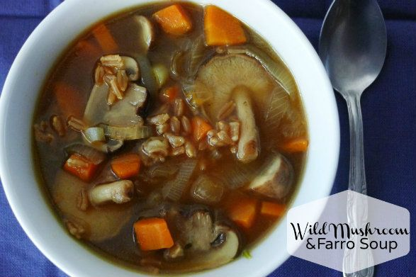 Wild Mushroom and Farro Soup