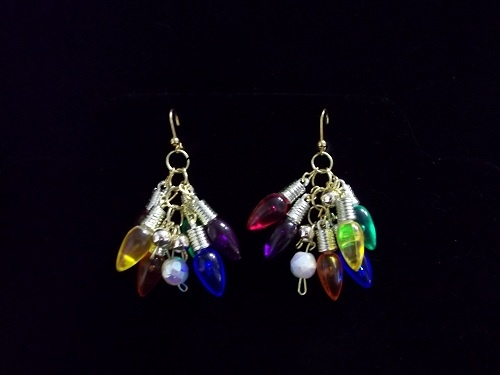 Christmas Light Earrings | Christmas | Pinterest