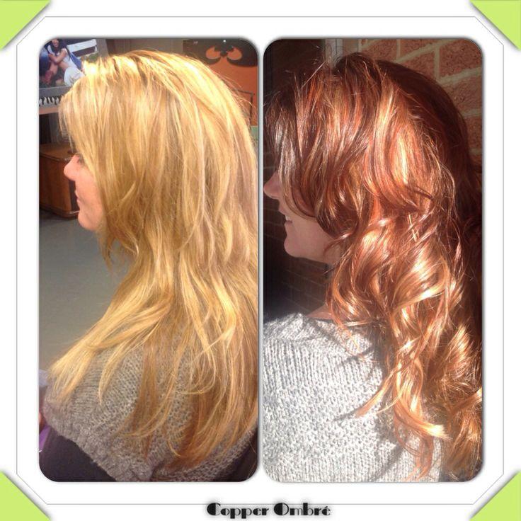 Dark Auburn, Copper & Honey Blonde Ombré | My Style | Pinterest